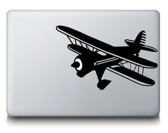 Propeller Airplane Flying MacBook Mac iPad Laptop Decal Sticker