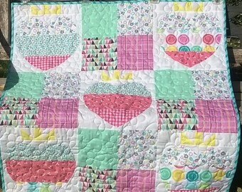 Hearts and Berries Baby Quilt