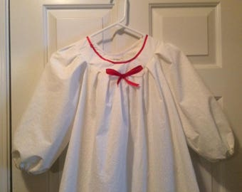 Girls/Ladies: 7 TRIM COLORS!  The Victorian Nightgown, Timeless, Old Fashion Nightgown, Girl's & Womens sizes Available!  Handmade.
