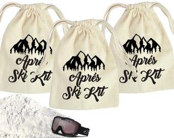 Ski Bachelorette party favors, ski bachelorette, hangover kits, recovery kits, bachelorette party survival kits, ski party hangover kit