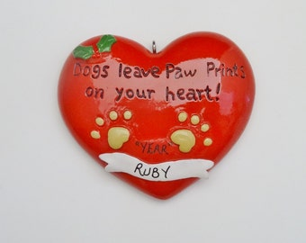Personalized Favorite dog Remembrance Christmas Ornament - In Our Heart Dog Personalized Ornament
