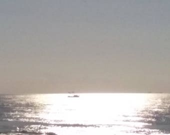 Sunrise on the Gulf of Mexico at Galveston Island