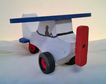 Kid's / Children's Wooden Toy Airplane - Finished/Painted or Unfinished