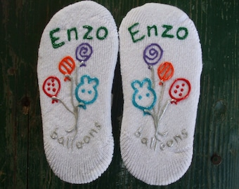Birthday Personalized Painted Socks Children's Size No Slip Party Favor Quantity Order ONLY