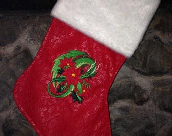 Dragon Embroidered Christmas Stacking