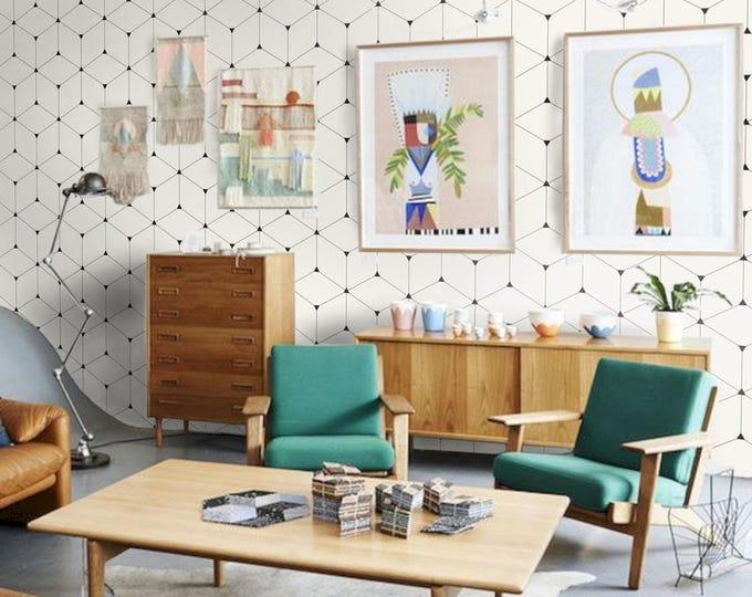Geometric Wallpaper - Vintage cubic wallpaper - Isometric Wallpapers- Vintage isometric Wallpapers