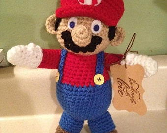 Hand Made Crochet Super Mario Plush
