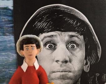 Bob Denver Doll Miniature Television Comedy Sitcom Actor Fan Art Character