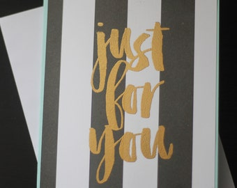 Just for You - Stampin' Up Homemade Card