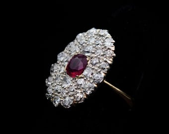 Fabulous Fifties Ruby/Diamond Ring