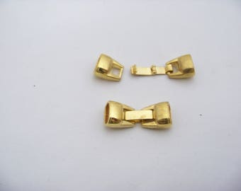 Gold Metal Calsp for Licorice Leather 4961