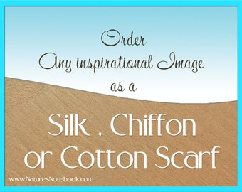Order any image as a Silk Scarf, Chiffon Scarf, or Cotton Scarf. Makes an amazing Christmas Gift, unique holiday gift, unique ocean gift
