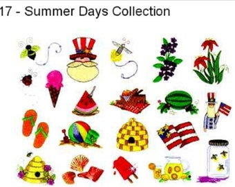 30 Summer days cotton embroidery designs machine embroidery designs