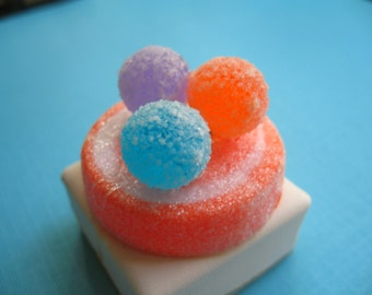 Tangerine Sugary Frosted Gumdrop Ring