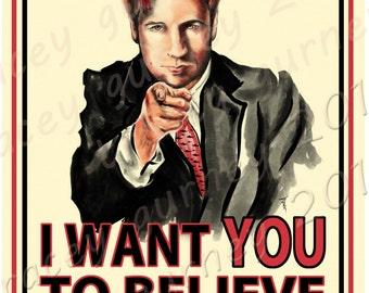 Uncle Mulder Wants You To Believe Vinyl Sticker