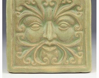 Wind Greenman Tile #2M