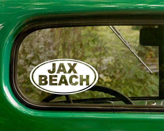 Jax beach decal jax beach sticker jacksonville florida car decal laptop sticker oval sticker bumper vinyl decal car sticker