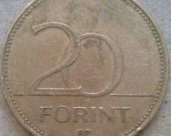 20 Hungarian Forints 1994, Hungarian currency, Money of Hungary, Hungarian coins, Europe coins, Hungarian Forint, Currency of Hungary,