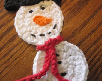Small Crochet Snowman Applique