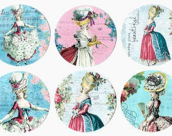 Stickers, Marie Antionette, Marie Sticker Seals, French Style Stickers