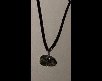 Dark grey Marble Stone Necklace