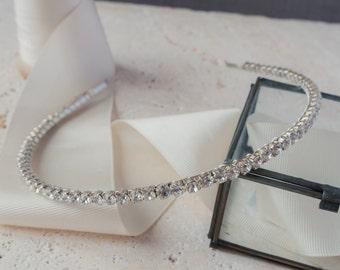Diamante Headband, Rhinestone Headband, Bridal Headband, Diamante Tiara, Bridesmaid Tiara, Rhinestone Tiara, Handmade Tiara, Vintage Tiara