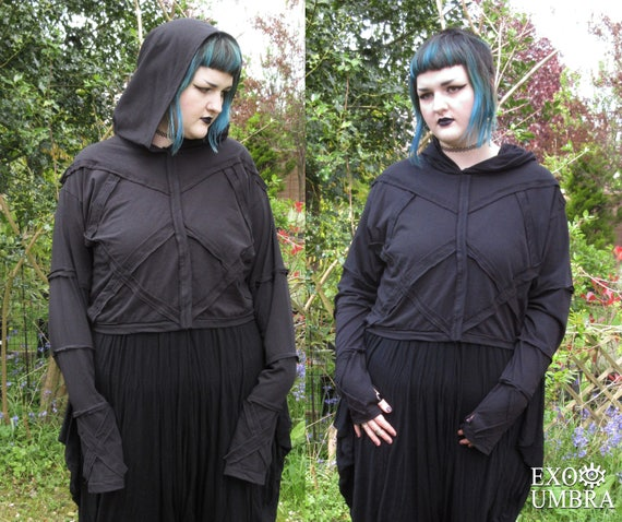 Huntress crop top, Handmade in sizes S to 5XL