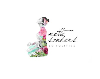 Reserved Listing Botanical Logo Design Branding Package Premade Graphics Custom Text Yoga Floral Woman