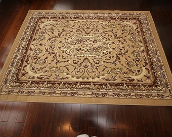 Generations Traditional Opera Persian Area Rug, 5' x 8', Beige