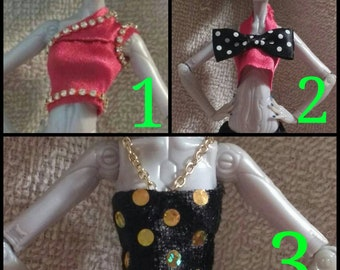 Handmade Monster High Doll Clothing - Mini Shirts (Different Styles)