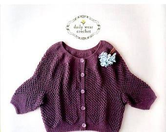 Daily Wear Crochet - Japanese Craft Book   cardigan   straight knitting spring summer knit