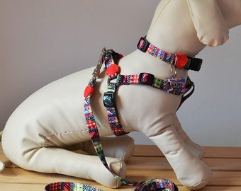 Pack Let's Ride Pet (Collar + Tag + Leash + Harness + Safety Belt + Waterproof Seat Cover) Size M