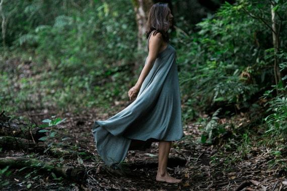 Fern High-Low Maxi Dress / Heather Gray