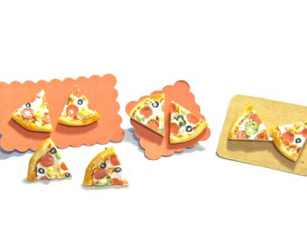 Combo Pizza Slice Earrings