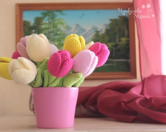 PATTERN The Tulip PDF crochet flower