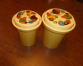 Two Vintage Rubbermade Cannisters