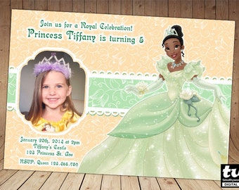 Princess Tiana Invitation