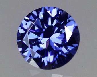 Cubic Zirconia Tanzanite Purple Blue Round AAA Rated CZ Loose Stone (1mm - 15mm)