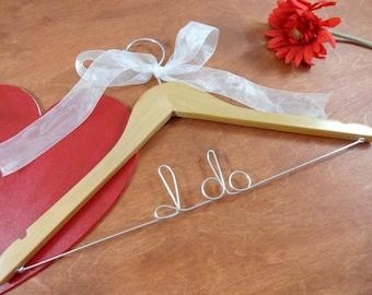 Fast Wedding Hanger - I do - Clothes Hanger - Hanger for Wedding - Present - Hand Crafted Hangers - Bride Wedding Hanger - Hanger Wire