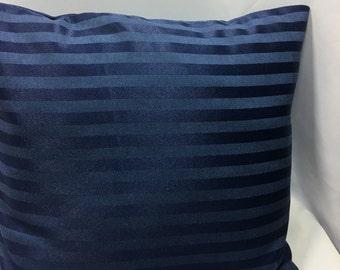 Navy Striped Pillow Cover, Throw Pillow, Navy Blue Pillow Cover, Decorative Pillow, Home Decor, Accent  Pillow,  Pillow Covers, Blue Pillow,