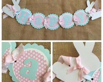 Bunny Birthday Banner, Bunny Party Banner, Bunny Banner, Some Bunny Party Banner, Easter Birthday Banner, Bunny Birthday Decorations