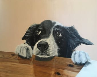 Custom Pet Portrait (Pet Portraits Done In Acrlyic Paint)