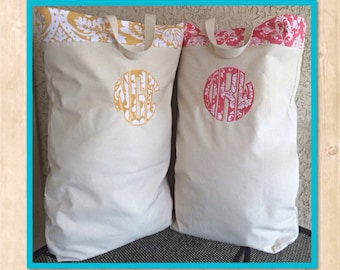 Personal Monogrammed Laundry Bag// Graduation Gift // College Gift