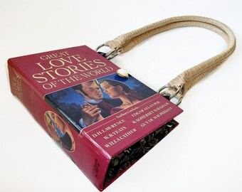 Book Purse Great Love Stories of the World, Shoulder Handbag, Teacher or Librarian Gift