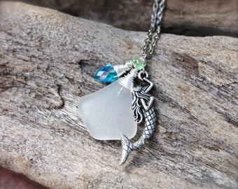 Sea Glass Necklace - Mermaid Jewelry from Hawaii - Mermaid Necklace - Beach Sea Glass Jewelry by Mermaid Tears - Hawaiian Jewelry