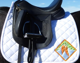 Be Hungry! Dressage Saddle Pad for English Saddles from The Carrot Collection CD 72