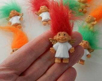"Miniature TROLL DOLLS - Angel troll, Vintage troll, Miniature troll doll, Miniature doll, Troll doll, RUSS troll doll, 1"" troll"