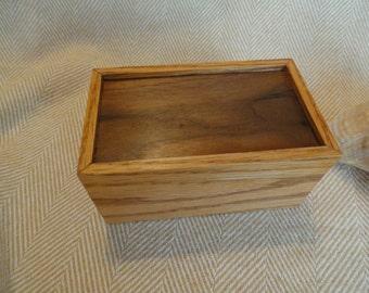 Wooden Box, Accessory Box, Jewelry Box, Walnut and oak box