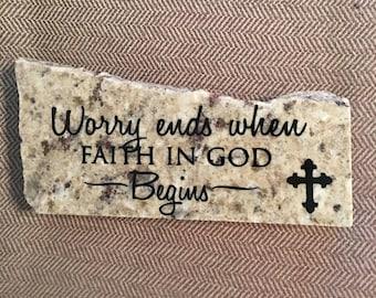 Faith in God- Granite Decor