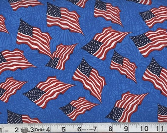 Patriotic Fabric American flags/ Per yard/ 4th of July fabric/ quilting, Crafting,Home decor/ Patriotic party